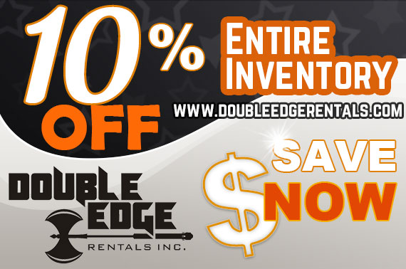 Double Edge Rentals February sale