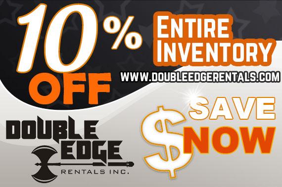 Double Edge Rentals February sale